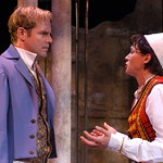 Twelfth Night L-R Geoffrey Kent (Orsino)_Kate Berry (Viola) photo P. Switzer (2) -