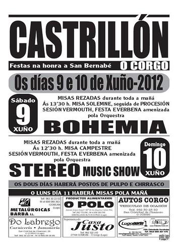 O Corgo 2012 - Festas de San Bernabé no Castrillón - cartel
