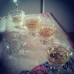 drink: schnaps for lunch at my bf's grandfather's.