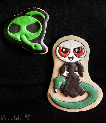 Voldemort & Dark Mark Potterpuff Cookies.