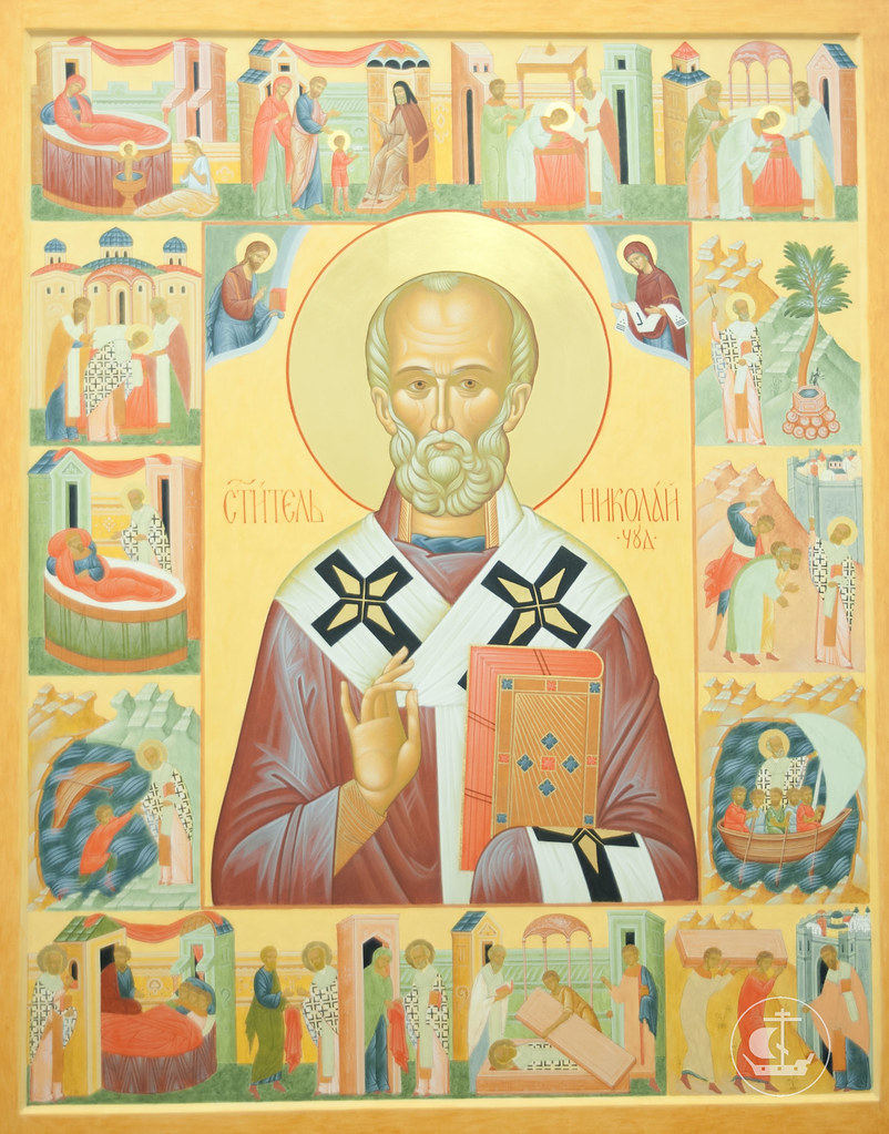 Икона святителя Николая Мир Ликийских Чудотворца с житием