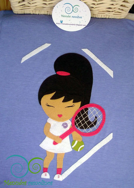 Camiseta personalizada Tenis Niña