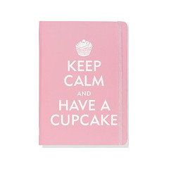 Caderno estilo Moleskine Keep Calm and Have a Cupcake