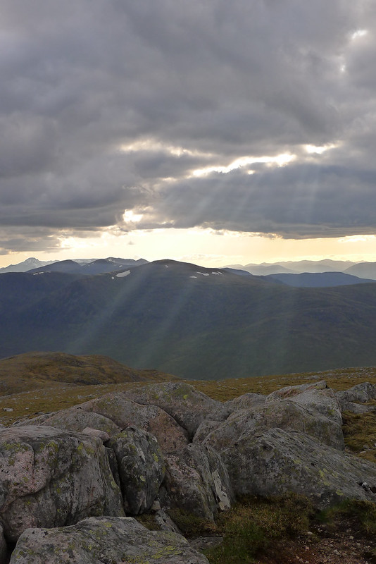Crepuscular Rays over Strath Ossian