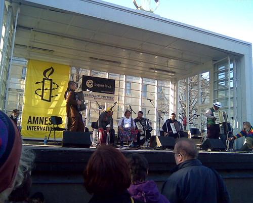 Street musician concert in Helsinki