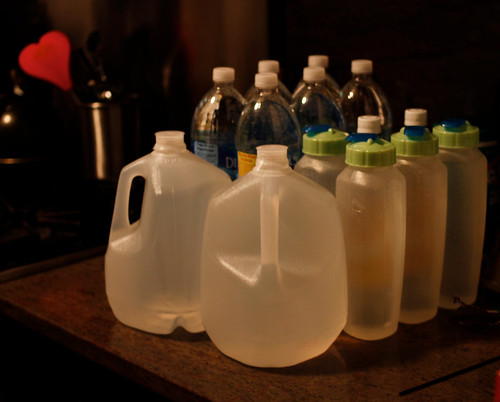 Stocking supplies in anticipation of Hurricane Irene