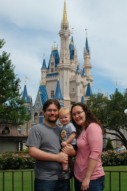 Me, George, Rob and Cinderella's Castle.