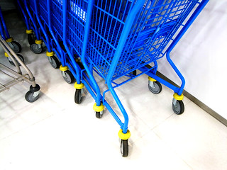 blue shopping cart