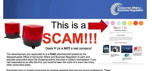 fake site scam