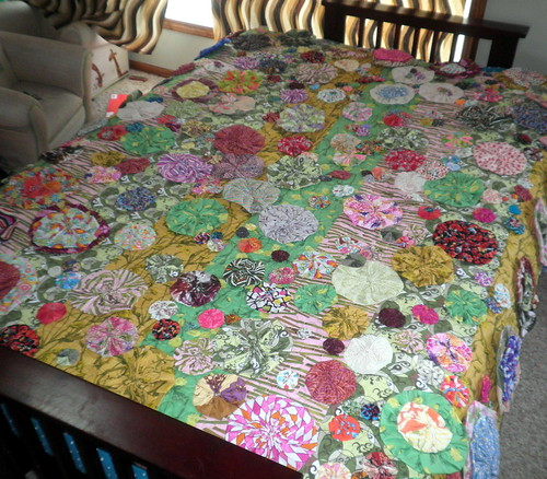 Bloom Quilt on the Futon