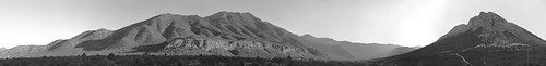 lasvegas nevada nikon d700 panorama stitched panoramic may 2012 mtcharlston clarkcounty earth blackandwhite bw gray oldnevada sunset clark