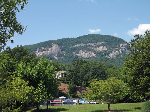 Chimney Rock from Lake Lure