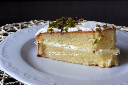 torta al cioccolato bianco con chiboust al limone