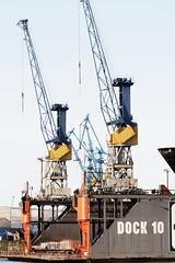 port, crane vessel (floating), construction equipment, crane, oil field,