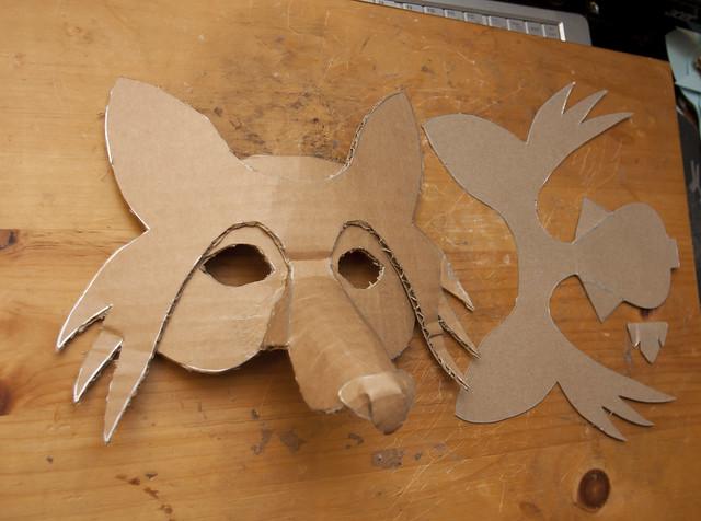 Cardboard animal mask template simlpe fox mask 3 flickr photo sharing maxwellsz