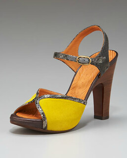 Chie Mihara Colorblock Platform Sandal NM Retail $398 on sale for $266
