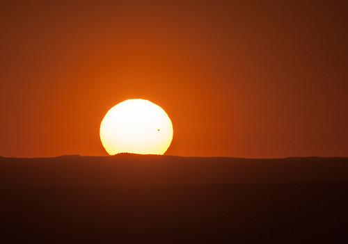 sunset sun sol solar nikon venus albuquerque transit nm tamron200500 d700 venustranist