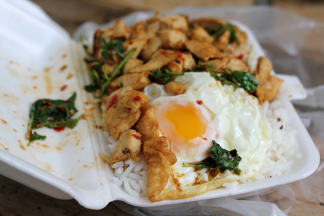 Pad Gra Pao Gai Kai Dao (Thai Basil Chicken and Fried Egg) ผัดกะเพราไก่ไข่ดาว