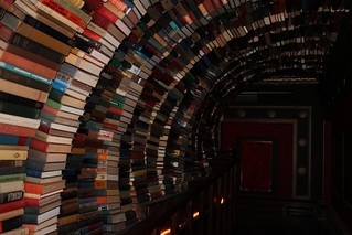 Upstairs in the The Last Bookstore
