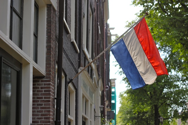 Dutch flag in the Jordaan