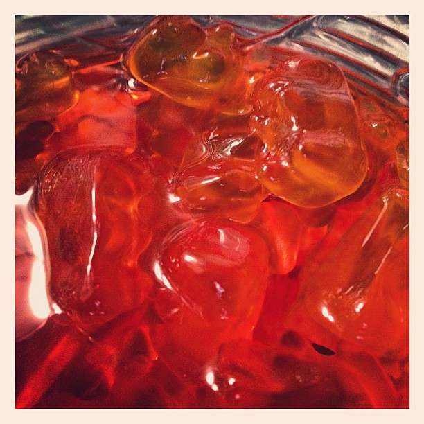 Drunken Gummy Bears in a Negroni by Caroline on Crack