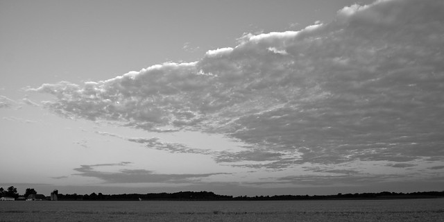 Morning Cloud Scape B&W