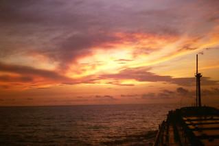 into the sunset off Guadalajara