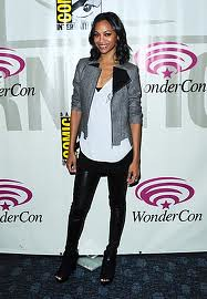 Zoe Saldana Tweed Jacket Celebrity Style Women's Fashion (2)