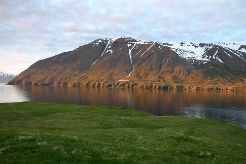 nature sunrise náttúra kleifar ólafsfjörður