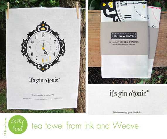 {zesty find} tea towel from Ink and Weave