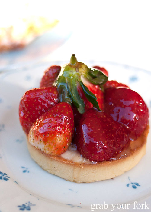 Strawberry tart at Strawberry Fields Dulwich Hill