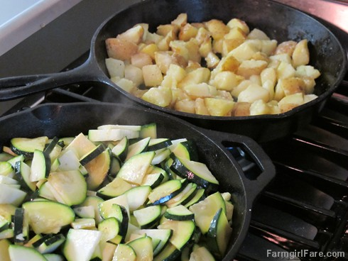 (19) Zucchini and potatoes bought from our Amish friends - FarmgirlFare.com