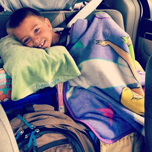 Becks resting with a Tinkerbell blanket