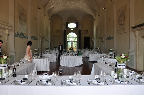 The reception hall in Palazzo Del Vignola