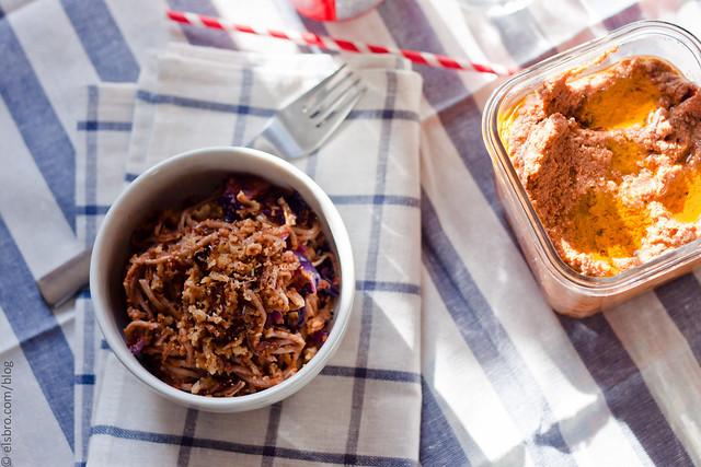 Eggplant Pesto w/ Soba Noodles