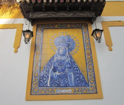 コルドバ 教会の壁のタイル絵② by Poran111