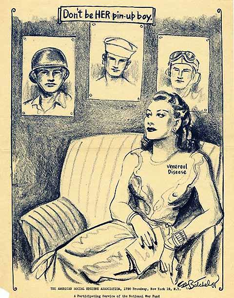 Anti-Prostitution Poster, WWII