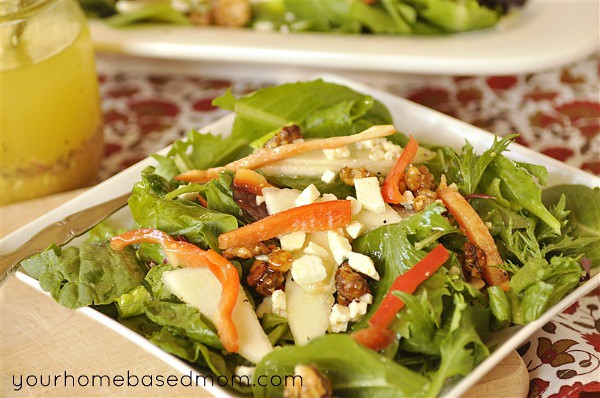 Pear and Champagne Vinaigrette Salad