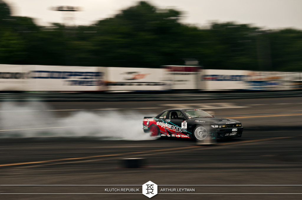 nissan silvia s14 black enjuku racing drifting at formula drift the wall new jersey 3pc wheels static airride low slammed coilovers stance stanced hellaflush poke tuck negative postive camber fitment fitted tire stretch laid out hard parked seen on klutch republik