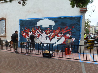 Power Rangers Mural In Progress