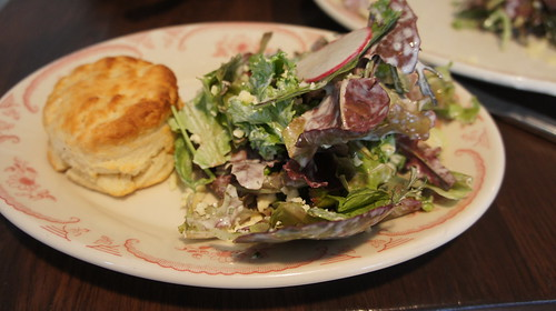 Biscuit and Salad