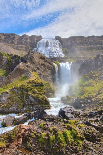 landscape waterfall iceland hdr strung tonemapped dyjandi day4breidaviktoisafjordur johnstrung