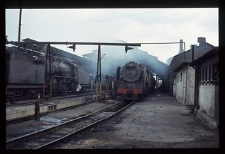 018. 1980-12. Germiston Loco Shed - South African Railways.