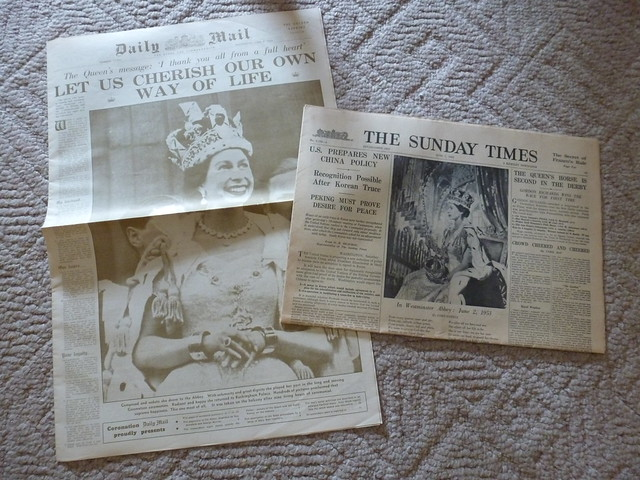 1953 London papers from the Coronation of Elizabeth II