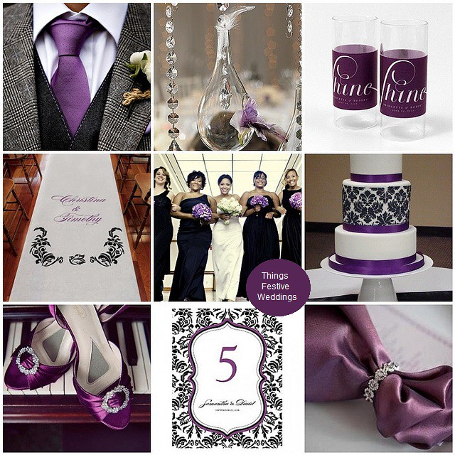 Purple & Black Wedding Inspiration