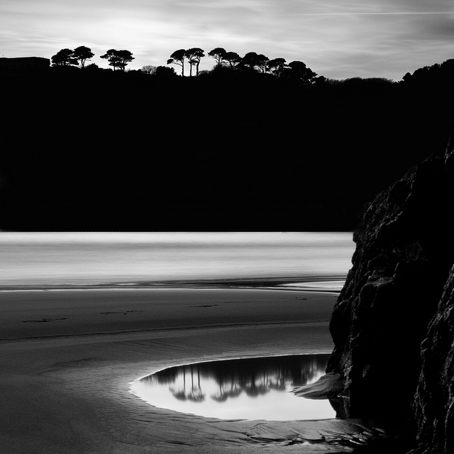 Black and white landscape photography by Christopher George