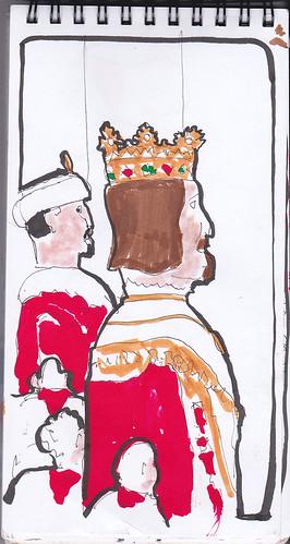 36th Sketchcrawl ( Viendo Los gigantes: el rey europeo, El Rey Europeo: Joshemiguelerico y el rey El Rey Asiático: