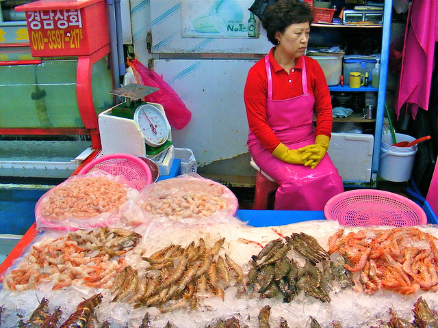 Woman at Jagalchi Fish Market, Busan