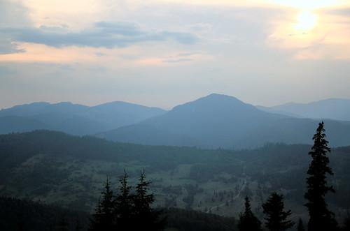trees sunset mountain mountains nikon romania durau 18105 nikond7000