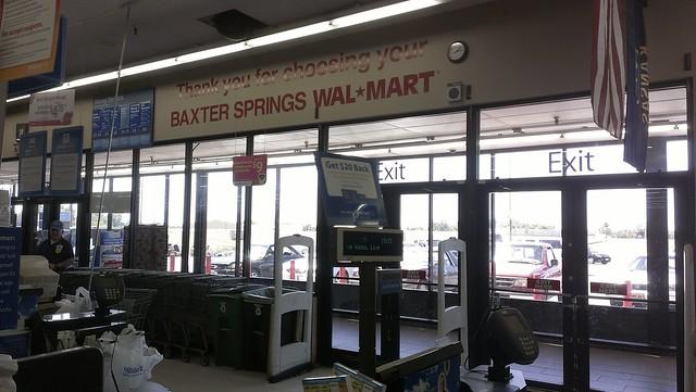 Wal mart baxter springs kansas 90s thank you wall decal flickr photo sharing for Walmart pharmacy garden city ks